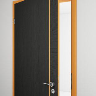Intarziás beltéri ajtó /CPL, festett, furnér/