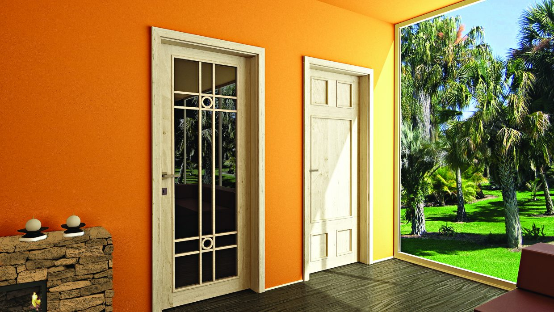 Vázkeretes beltéri ajtó /CPL, festett, furnér/
