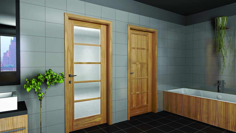 Üveges beltéri ajtó /CPL, festett, furnér/