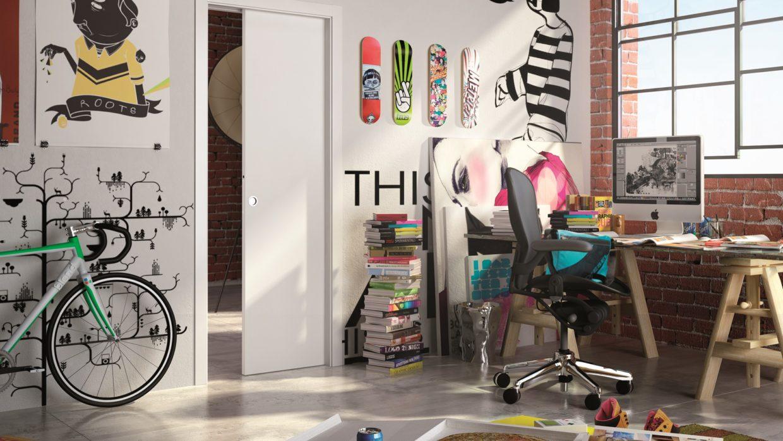 Eclisse Unico falban futó tolóajtó rendszer – vakolt falhoz