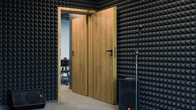 Hanggátló ajtó
