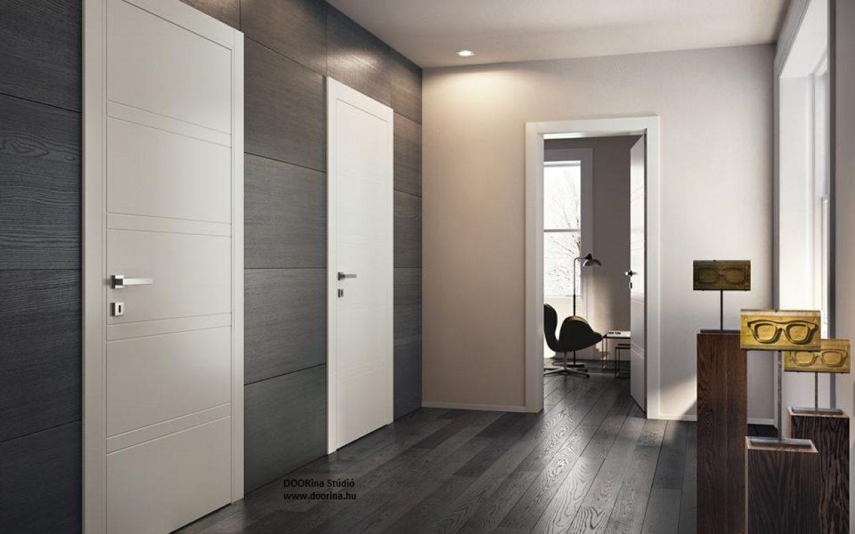 Síküveges beltéri ajtó design /CPL, festett, furnér/